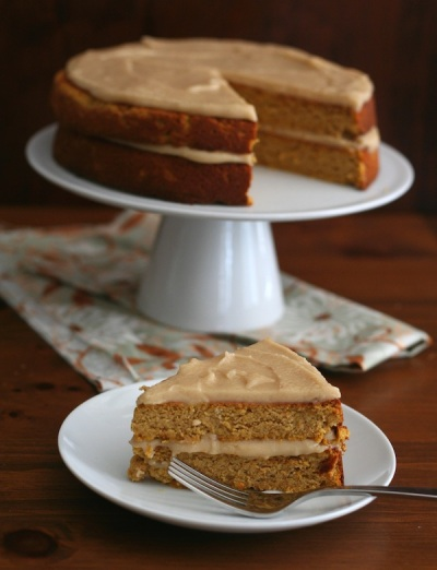 Pumpkin-Spice-Cake-with-Brown-Butter-Frosting