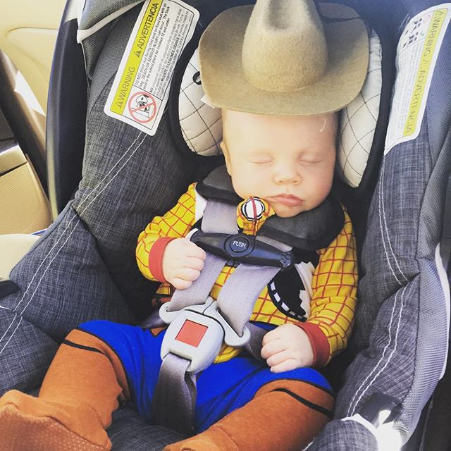 Howdy partner, already got the horses saddled up #sleepysheriff #babyro @forbesandforbes